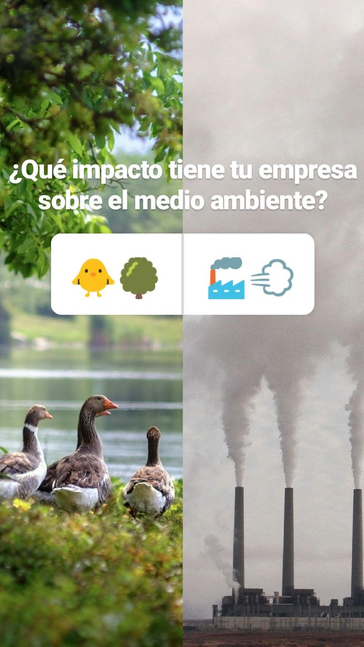 medio ambiente, impacto, 14001, iso, medioambiental, contaminación, naturaleza. humo, instagram, stories