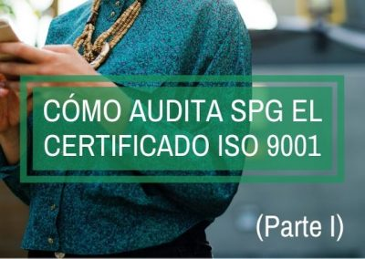 como audita spg el certificado iso 9001